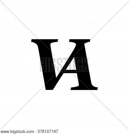 Va Letter Logo Isolated On A White Background
