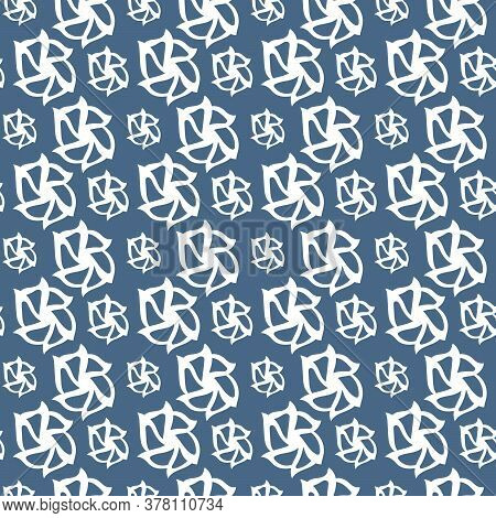 Vector Seamless Pattern. Fancy Stylish Pattern . Rhythmic Interweaving Of Abstract Figures
