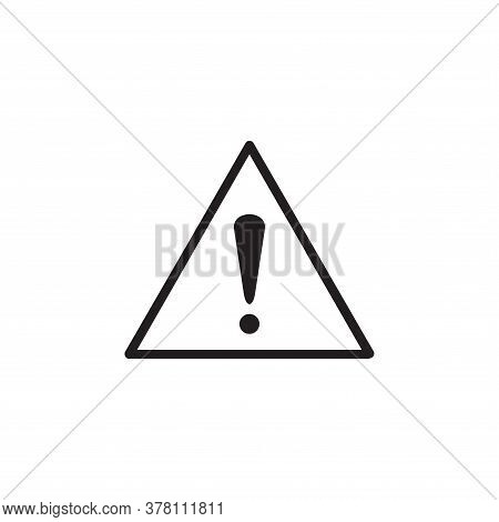Warning Sign , Exclamation Mark Icon, Danger Sign, Attention Sign, Caution Alert Symbol Isolated On