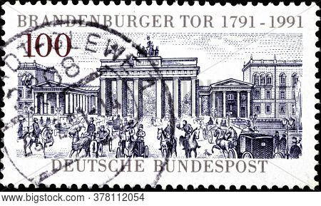 02 09 2020 Divnoe Stavropol Territory Russia The Postage Stamp Germany 1991 The 200th Anniversary Of