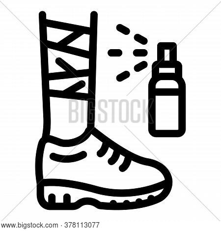 Foot Injury Spray Icon. Outline Foot Injury Spray Vector Icon For Web Design Isolated On White Backg