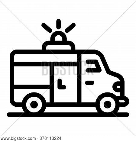 Sport Ambulance Car Icon. Outline Sport Ambulance Car Vector Icon For Web Design Isolated On White B