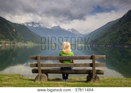 Bench In Alps