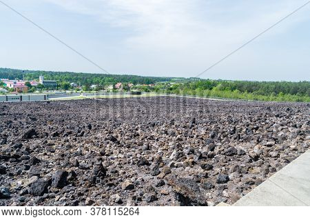 Belzec, Poland - June 12, 2020: Panoramic View In Belzec Former Nazi German Extermination Camp.