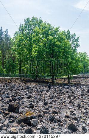 Belzec, Poland - June 12, 2020: Belzec Extermination Camp Memorial. During The Construction Of Mauso