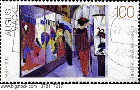 02 09 2020 Divnoe Stavropol Territory Russia The Postage Stamp Germany 1992 Paintings Of The 20th Ce