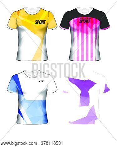 Set Of Soccer Or Football Jersey Template T-shirt Style, Design Your Football Club Vector Illustrati