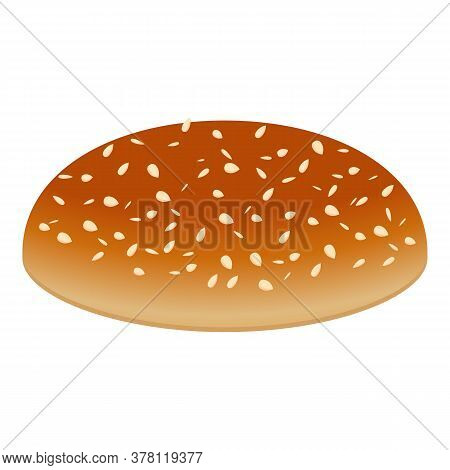 Burger Top Bun Icon. Cartoon Of Burger Top Bun Vector Icon For Web Design Isolated On White Backgrou