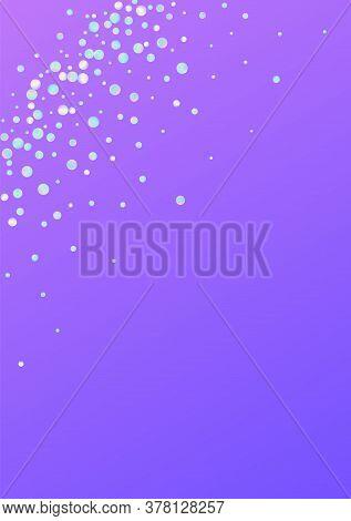 Multicolored Shine Top Blue Background. Rainbow Carnaval Splash Postcard. Festival Card. Magic Abstr