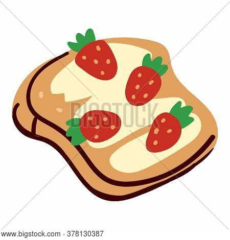 Strawberry Sandwich With Creamy Top And Sweet Taste