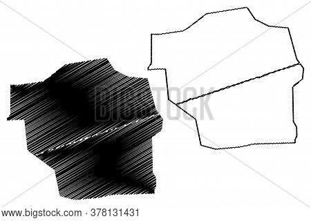 Sahiwal City (islamic Republic Of Pakistan, Punjab Province) Map Vector Illustration, Scribble Sketc