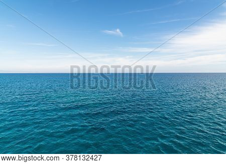 The Beautiful Landscape With The Mediterranean Sea
