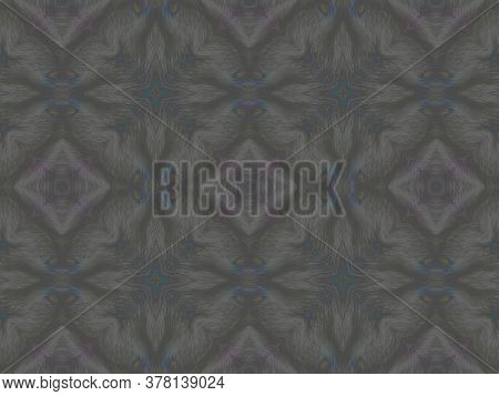 Portuguese Decorative Tiles. Grey Leaves Grunge Carpet. Portuguese Decorative Tiles Background. Flow