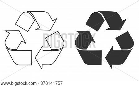 Recycle Symbol Icon Vector. Reusing Symbol Isolated. Vector Illustration Eps 10