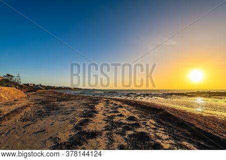 Moonta Bay Beach View At Sunset, Yorke Peninsula,  South Australia