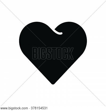 Black Solid Icon For Heart Love Affection Impulse Friendship Emotion Valentine Cardiology Romance Ro