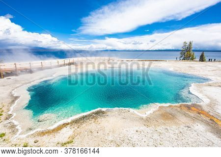 Black Pool, West Thumb Geyser Basin. Yellowstone National Park, Wyoming - USA
