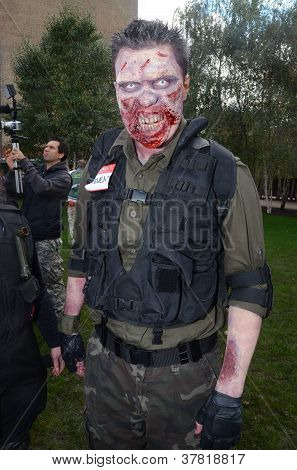 People Attending The World Zombie Day 2012 In Central London 13Th October 2012