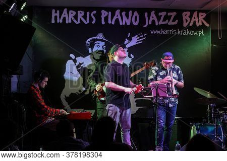 Cracow, Poland - July 3, 2020:  Eskaubei And Tomek Nowak Quartet Performs Live At 25rd Edition Of Th