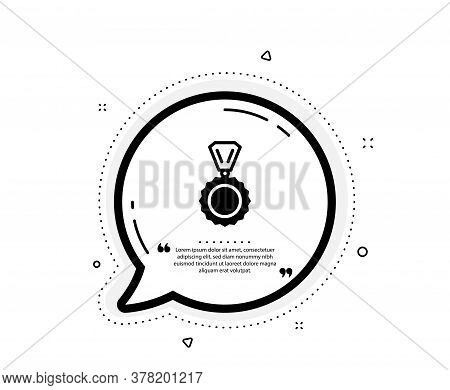 Award Medal Icon. Quote Speech Bubble. Winner Achievement Symbol. Glory Or Honor Sign. Quotation Mar