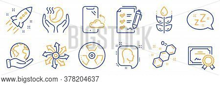 Set Of Business Icons, Such As Coffee, Smartphone Cloud. Certificate, Save Planet. Versatile, Gluten
