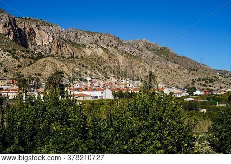 Landscape View Of The Little Town Ulea In Valley Of Ricote In The Murcia Region In Spain