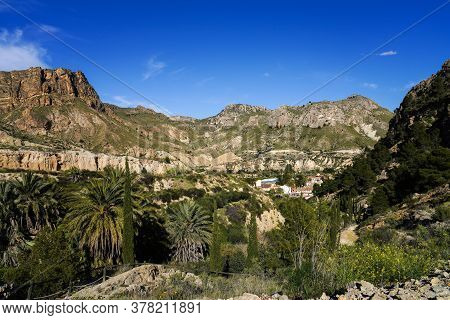 Landscape View Of The Mountains Of Ojos In The Valley Of Ricote, Murcia Region In Spain. Seen From M