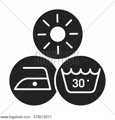 Disadvantages Of Eco Fabric Black Line Icon. Negative Sides. Something That Causes Problems. Pictogr