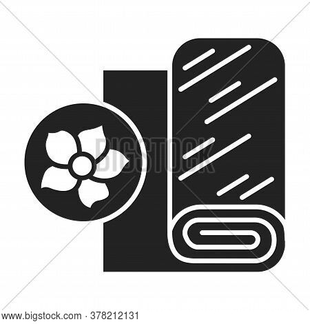 Linen Fabric Black Line Icon. Textile Made From The Fibers Of The Flax Plant. Pictogram For Web Page