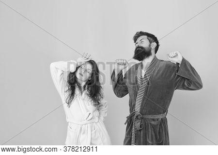 Advice Relationships Surviving Quarantine. All Day Pajamas. Sleepy People Blue Background. Couple In