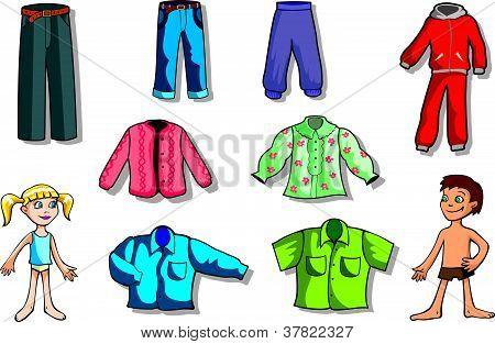 Set of children  clothes