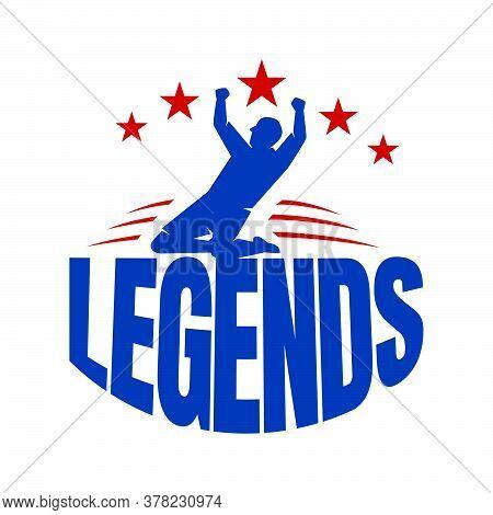 Sporty Lettering Emblem Legend Logo Vector Typography Concept Design Template