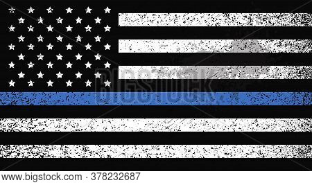 American Flag Awareness Campaign Against Racial Discrimination Black Lives Matter Concept Support Fo