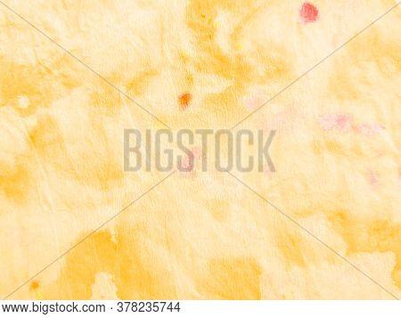 Watercolor Batik Repeat. Ethnic Gold Crumpled Textile. Watercolor Batik Repeat Print. Artistic Splas