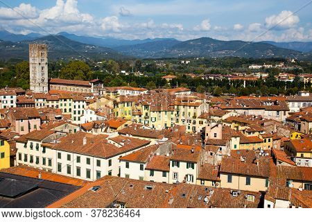 Looking Over The Historic City Of Lucca, Not Far Outside Florence. This Quiet City Is A Hidden Treas