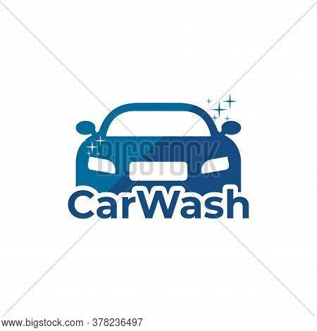 Car Wash Logo. Vector Car Wash Logo Isolated On White Background. Car Logo Trendy And Modern Cart Sy