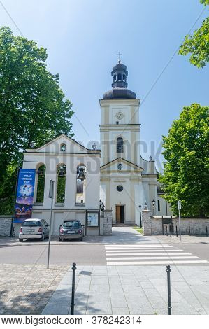 Narol, Poland - June 12, 2020: Church Of The Nativity Of The Blessed Virgin Mary.