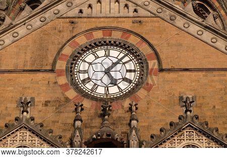 MUMBAI, INDIA - FEBRUARY 14, 2020: Victoria Station Chatrapati Shivaji terminal in Mumbai, India
