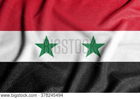 National Flag Of The Syria. The Main Symbol Of An Independent Country. Flag Of Syria. An Attribute O
