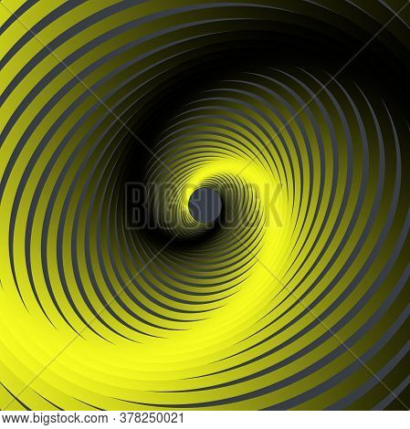 Vector Colored Spiral. Twisted Abstract Wireframe Tunnel. Colorful Vector Illustration
