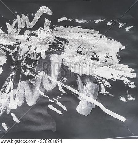 Triangular Design Elements Background. Preschool Chalk Aquarelle Paintings. Triangular Design Elemen