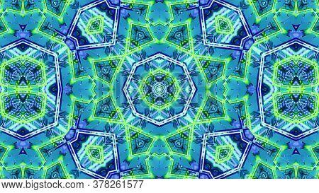 Digital Blended Mosaic Art Kaleidoscope 3d Illustration Background
