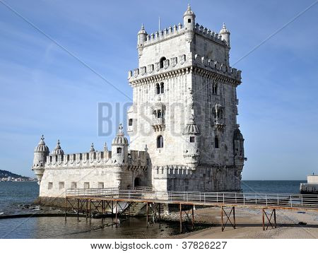 Belem tower in Lisbon (Portugal). On of the most popular landmark's in Lisbon. poster