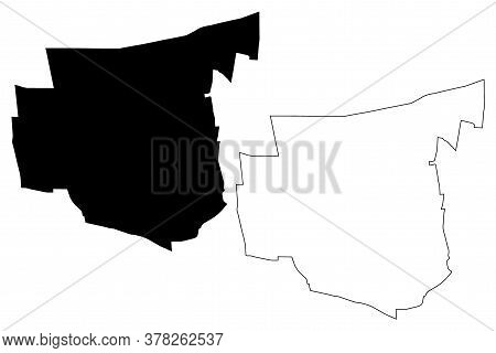 San Juan City (argentine Republic, San Juan Province) Map Vector Illustration, Scribble Sketch Map