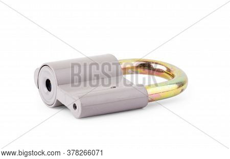Lock On White Background Strong, Locking, Safety, Solid, Household, Abstract, Item, Closeup, Chain,