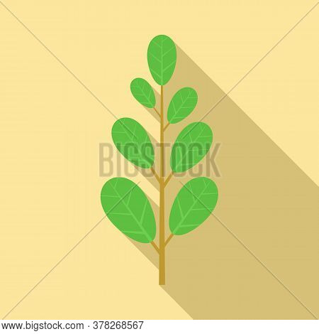 Leafy Green Icon. Flat Illustration Of Leafy Green Vector Icon For Web Design