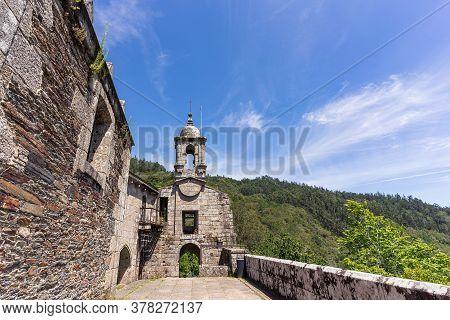 Caaveiro Monastery Ruins In Fragas Do Eume, Galicia, Spain