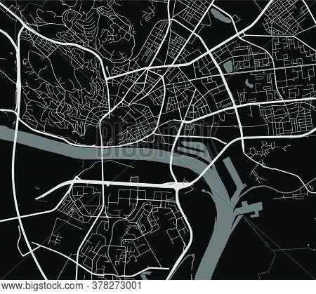 Bratislava City Map Poster. Map Of Bratislava Street Map Poster. Bratislava Map Vector Illustration.