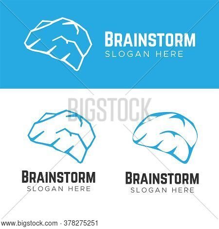 Brain And Intelligence Logo. Brainstorm And Creativity Logo Vector