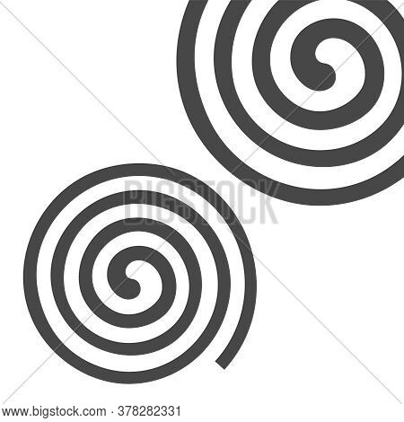 Psychedelic Spiral With Radial Rays. Swirl Spin Comic Vector